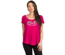 Live Simply Market Bike Scoop T-Shirt craft pink