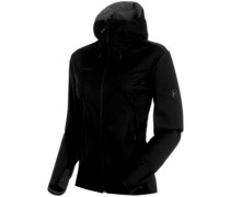 Ultimate V Hooded Softshell black-black