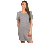 Right Above Dress dusty navy stripe