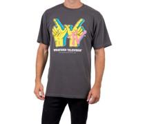 Whatever Tv Wash Vintage Dye T-Shirt black
