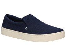 Lomas Slip-Ons navy heritage canvas