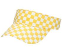 Yellow Check Visor Hat yellow