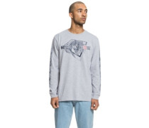 Phaser T-Shirt LS grey heather