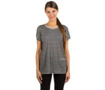 Stripe Print T-Shirt stripe winter grey