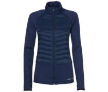 Baffle Mix Fleece Jacket ink blue