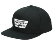 Full Patch Snapback Cap Youth true black