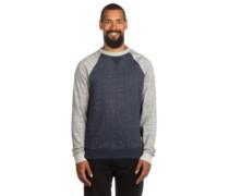 Meridian Crew Sweater indigo grey heather