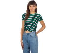Ilaria T-Shirt stripe knot green