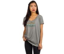 Femme Fitz Roy V-Neck T-Shirt arbor gr