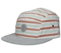 Inside Printed Stripes 5 Panel Cap grey