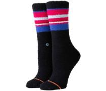 Snowed In Cozy Crew Socks black