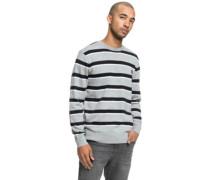 Sabotage Stripe Pullover grey heather