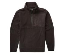 Boundary Mock Half Zip Fleece Pullover black