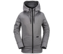Stone Dot Fleece Jacket heather grey