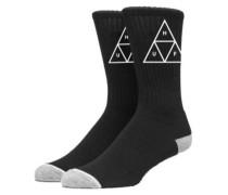 Triple Triangle Crew Socks black