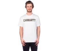 College T-Shirt white camo tiger, laurel