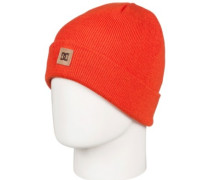 Label Beanie Youth red orange
