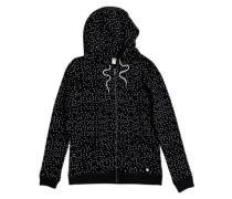 Trippin Printed Zip Hoodie true black dots for days