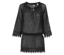Lace Beach Cover Up Dress black out