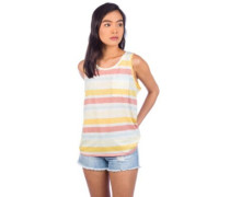 Mainstay Tank Top water ribbons flora pink
