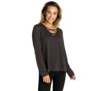 Crystal T-Shirt LS black marled
