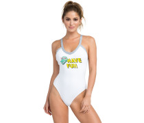 Real Talk Swimsuit white