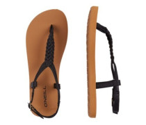 Braided Ditsy Plus Sandals black out