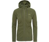 Mezzaluna Hooded Fleece Jacket four leaf clover stripe