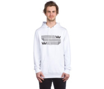 Linked Crown Stripe Hoodie white