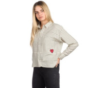Candy Heart Shirt LS white