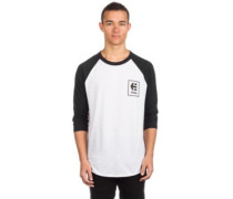 Stack Box Raglan T-Shirt LS white