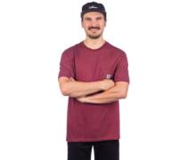 Basic Pocket Label T-Shirt port heather