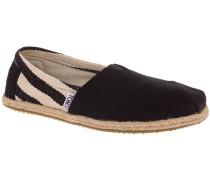 University Slip-Ons Women black stripe
