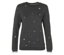 Mini Print Sweater white