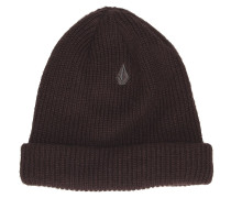 Sweep Lined Beanie black red