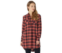 Grace Tunic Shirt LS bitters haze plaid