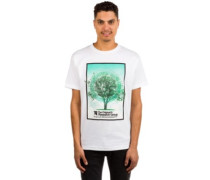 Tree Grid T-Shirt white
