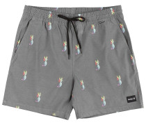 """Pineapple Volley 17"""" Shorts black"""
