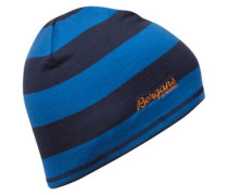 Fjellrapp Beanie Youth athensblue striped