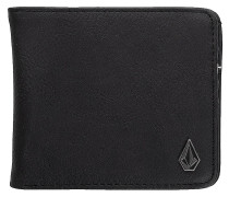 Slim Stone PU L Wallet new black