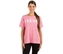 Block Stripe Logo T-Shirt chateau rose melange