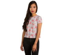 Cali T-Shirt pale mauve floral