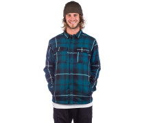 Sherpa Flannel Shirt teal black