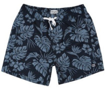 "All Day Floral Lb 16"" Boardshorts char"