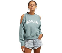 Edit N Crop Crew Sweater aqua