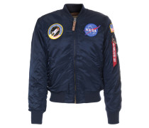 Bomberjacke MA-1 VF 59 NASA mit Patches Blue
