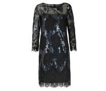 Kleid Mit Pailletten- Und Spitzendetails Black