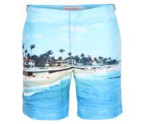 Bade-Shorts Bulldog mit Fotodruck Mid-Blue