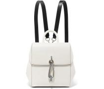 Hook Mini Rucksack aus Glattem und Strukturiertem Leder