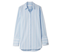Arlette Gestreiftes Hemd aus Baumwollpopeline